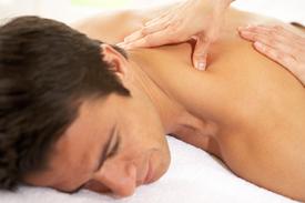 Patient receiving myofascial release treatment